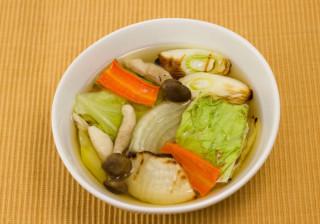 温まる焼き野菜しょうがスープ