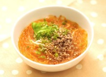 簡単!チゲ風春雨スープ