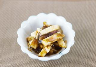長芋の海苔佃煮とシークヮーサーこしょう和え