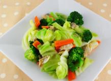 あったかアサリ入り茹で野菜サラダ