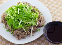 島とうがらしシークヮーサーぽん酢と麺つゆで食べるさっぱり冷やしそば
