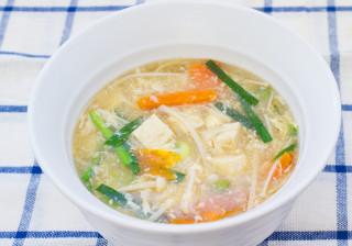 ぽん酢で簡単酸辣湯(スーラータン)