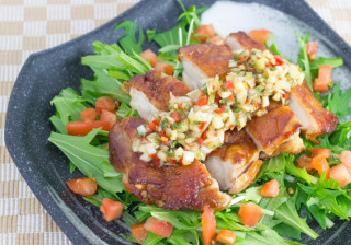 たっぷり野菜の焼き油淋鶏