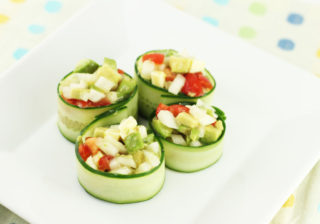 きゅうりロールサラダ