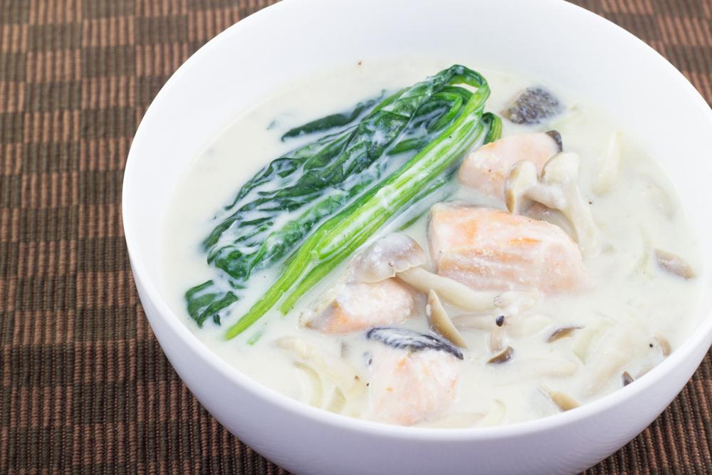 鮭の味噌クリームシチュー