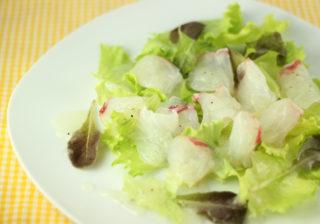 白身魚のカルパッチョサラダ