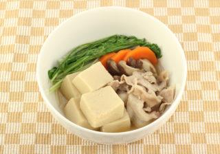高野豆腐と豚肉の煮びたし