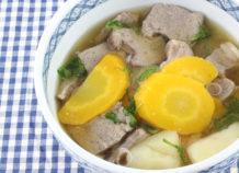 チムシンジ 豚レバーの汁物(味噌味)