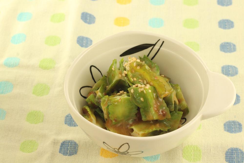 うりずん豆(四角豆)の豚肉みそマヨ和え