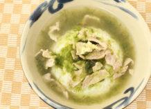 アーサ汁飯(アオサの汁飯)